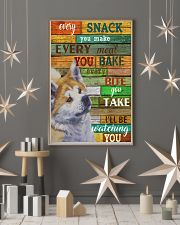 Akita Every Snack You Make 11x17 Poster lifestyle-holiday-poster-1