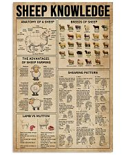 Sheep Knowledge Farm Life 11x17 Poster front