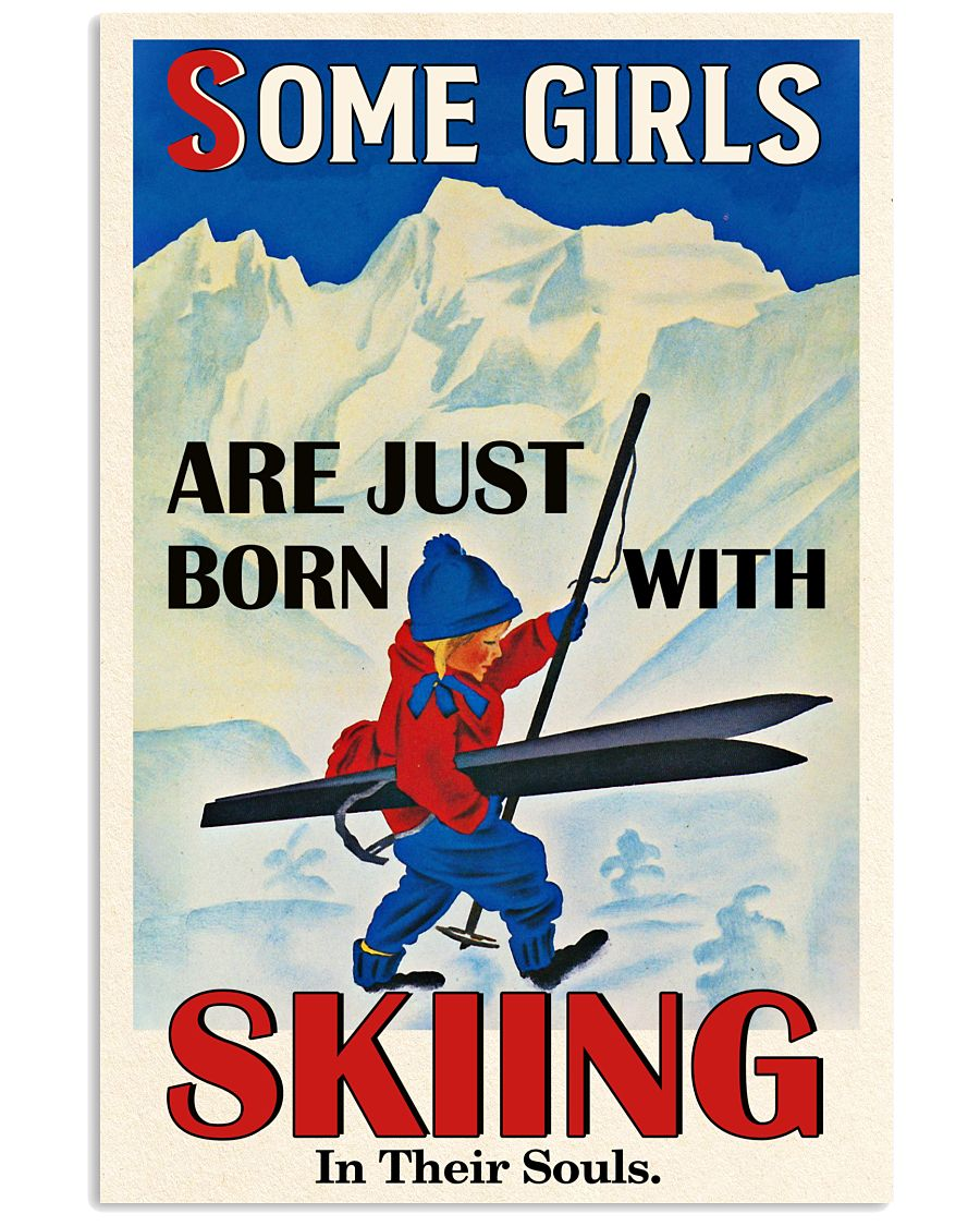Skiing In Their Souls 16x24 Poster