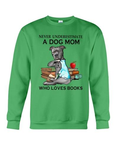 Never Underestimate A Pit Bull Mom Loves Books