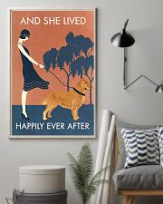 Vintage Girl She Lived Happily Golden Retriever 11x17 Poster lifestyle-poster-1