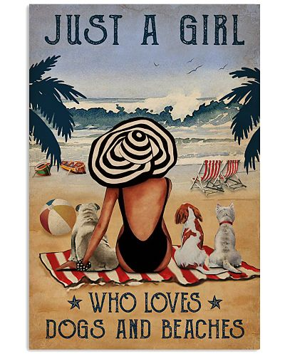Vintage Beach Who Loves Dogs Girl