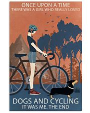 Vintage Once Upon A Time Dachshund And Cycling 11x17 Poster front