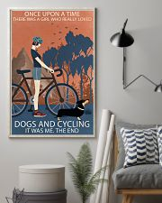 Vintage Once Upon A Time Dachshund And Cycling 11x17 Poster lifestyle-poster-1
