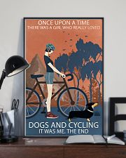 Vintage Once Upon A Time Dachshund And Cycling 11x17 Poster lifestyle-poster-2