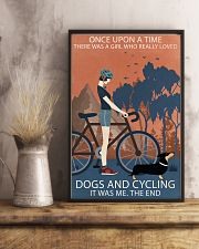 Vintage Once Upon A Time Dachshund And Cycling 11x17 Poster lifestyle-poster-3