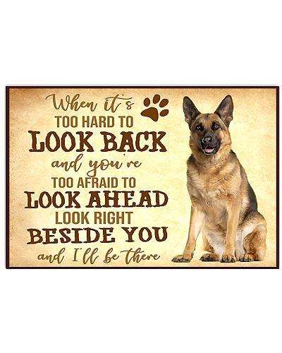 German Shepherd When It Is Too Hard To Look Back