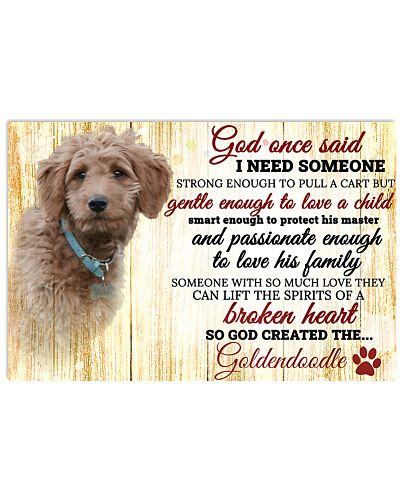 God One Said I Need Some One Goldendoodle