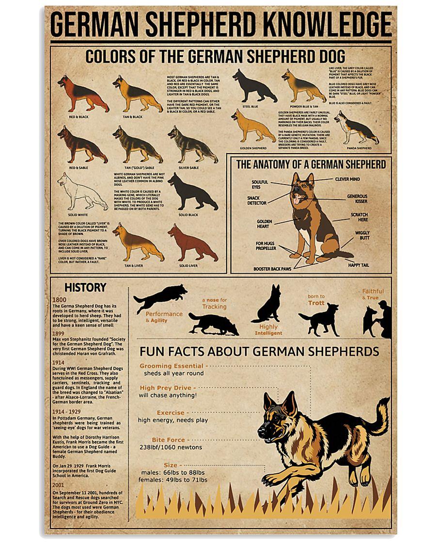 Knowledge German Shepherd 11x17 Poster