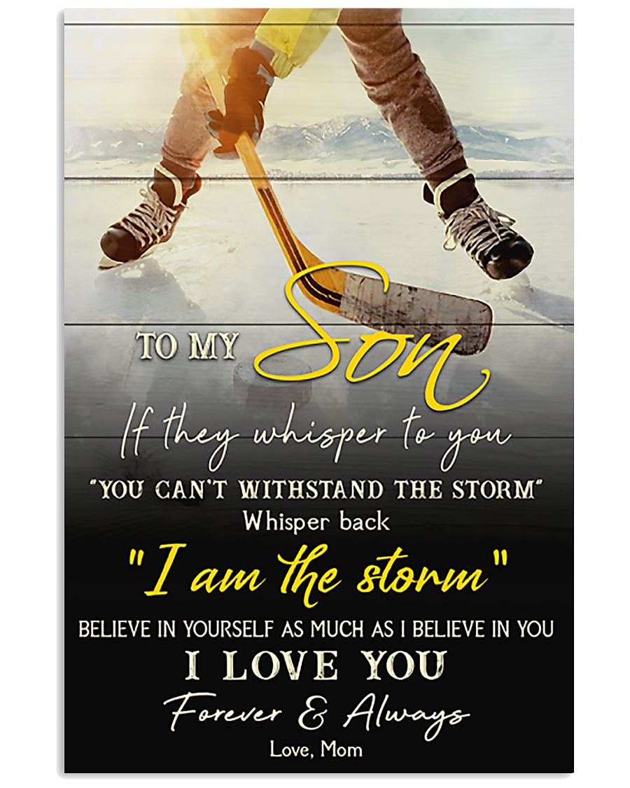 Hockey To My Son I Love You 11x17 Poster
