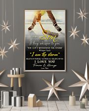 Hockey To My Son I Love You 11x17 Poster lifestyle-holiday-poster-1