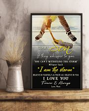Hockey To My Son I Love You 11x17 Poster lifestyle-poster-3