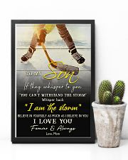 Hockey To My Son I Love You 11x17 Poster lifestyle-poster-8