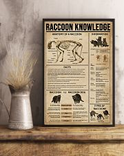 Raccoon Knowledge 11x17 Poster lifestyle-poster-3
