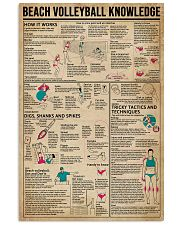 Beach Volleyball Knowledge 11x17 Poster front