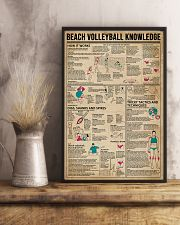 Beach Volleyball Knowledge 11x17 Poster lifestyle-poster-3