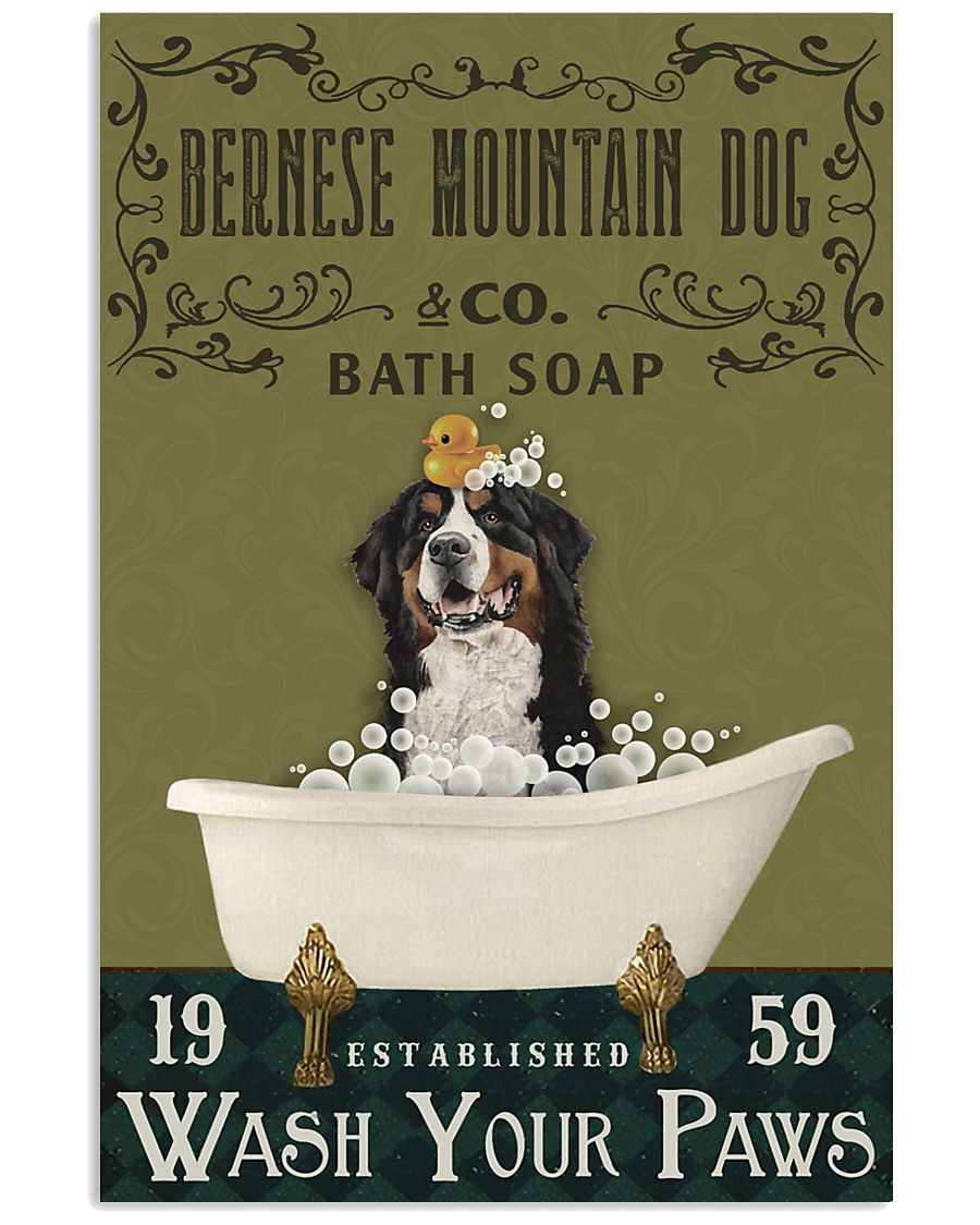 Olive Bath Soap Company Bernese Mountain Dog 11x17 Poster