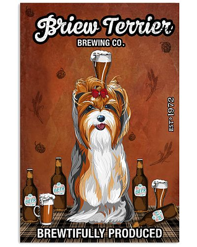 Briew Terrier Dog And Beer Yorkshire Terrier