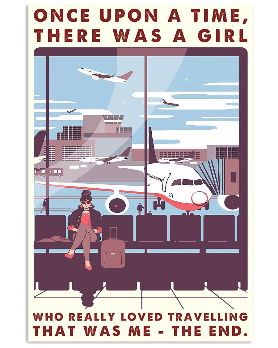 Once Upon A Time Girl Loved Traveling 16x24 Poster