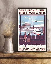 Once Upon A Time Girl Loved Traveling 16x24 Poster lifestyle-poster-3