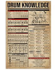 Drum Knowledge 16x24 Poster front