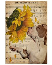 Music Sheet Sunflower My Sunshine Pitbull 11x17 Poster front