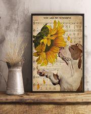 Music Sheet Sunflower My Sunshine Pitbull 11x17 Poster lifestyle-poster-3