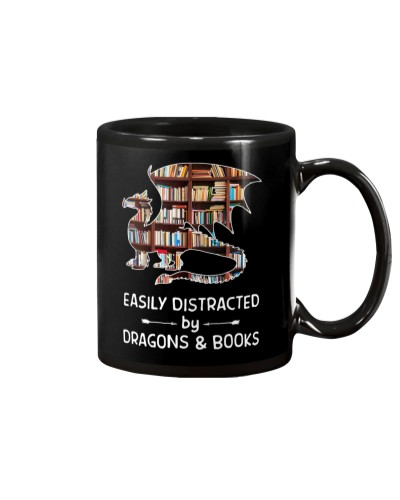 Dragon And Books Easily Distracted