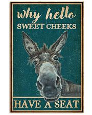 Retro Teal Why Hello Sweet Cheeks Donkey 16x24 Poster front