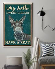 Retro Teal Why Hello Sweet Cheeks Donkey 16x24 Poster lifestyle-poster-1