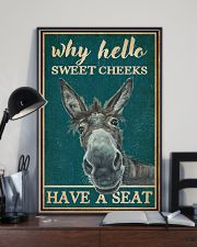 Retro Teal Why Hello Sweet Cheeks Donkey 16x24 Poster lifestyle-poster-2