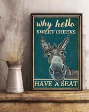 Retro Teal Why Hello Sweet Cheeks Donkey 16x24 Poster lifestyle-poster-3