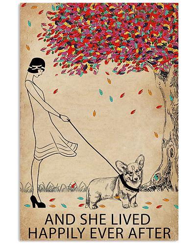 Live Happily Vintage Tree Corgi