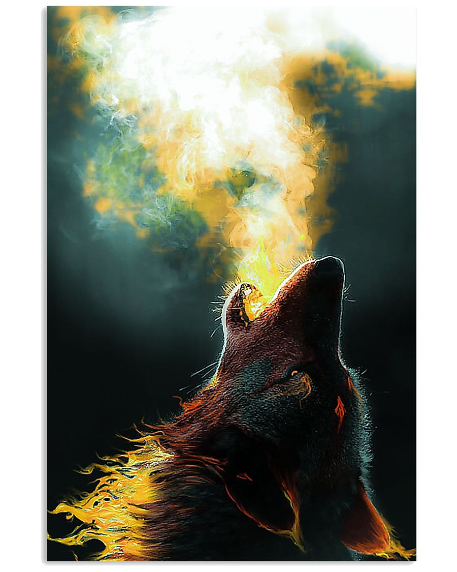 Wolf Howling 11x17 Poster