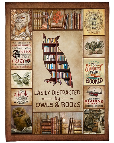 Easily Distracted By Owls And Books