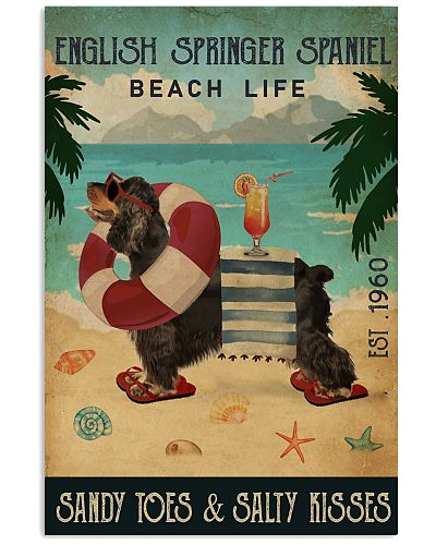 Vintage Beach Cocktail English Springer Spaniel