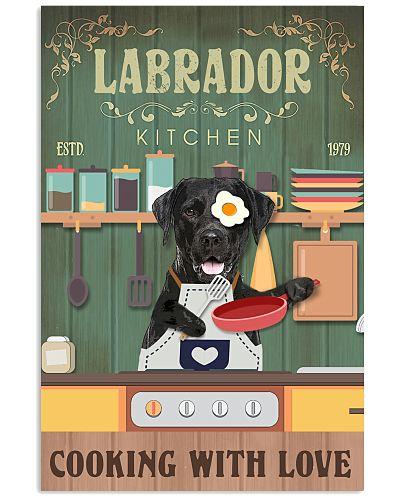 Labrador Retriever Kitchen Cooking With Love