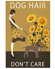 Sunflower Vintage Dog Hair Pit bull 11x17 Poster front