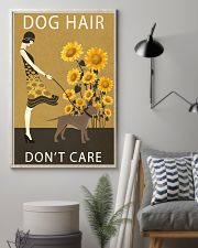 Sunflower Vintage Dog Hair Pit bull 11x17 Poster lifestyle-poster-1