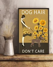 Sunflower Vintage Dog Hair Pit bull 11x17 Poster lifestyle-poster-3