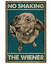 Retro Green No Shaking The Wiener Dachshund 16x24 Poster front