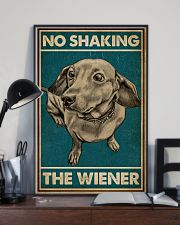 Retro Green No Shaking The Wiener Dachshund 16x24 Poster lifestyle-poster-2