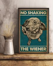 Retro Green No Shaking The Wiener Dachshund 16x24 Poster lifestyle-poster-3
