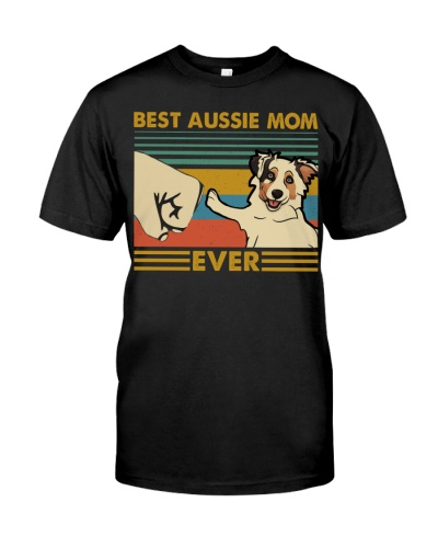 Retro Blue Best Australian Shepherd Mom Ever