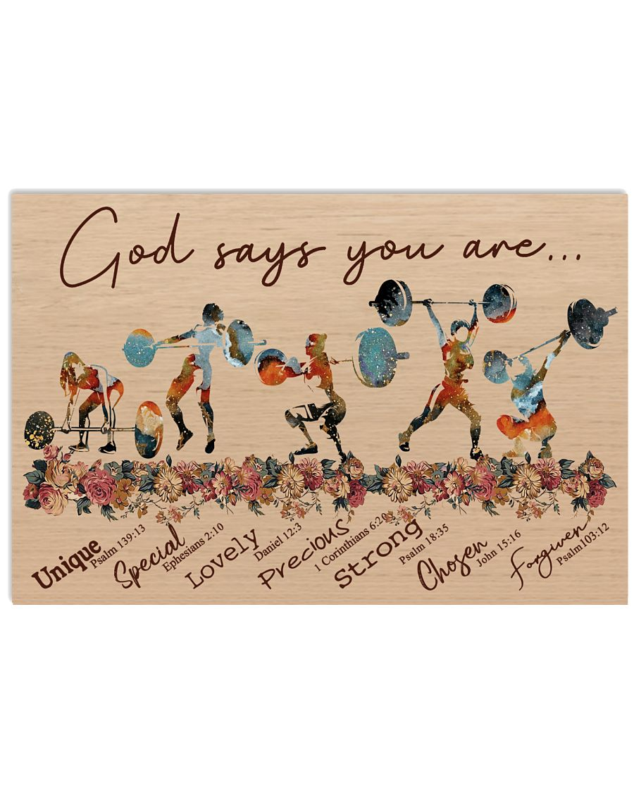 God Says You Are Weightlifting 24x16 Poster