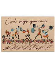 God Says You Are Weightlifting 24x16 Poster front