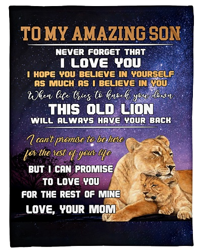 Mom To Son Believe In Yourself Lion