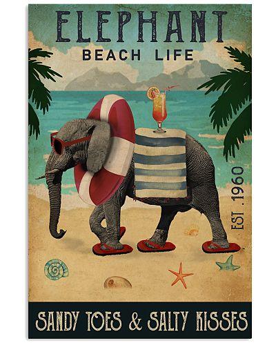 Vintage Beach Cocktail Life Elephant