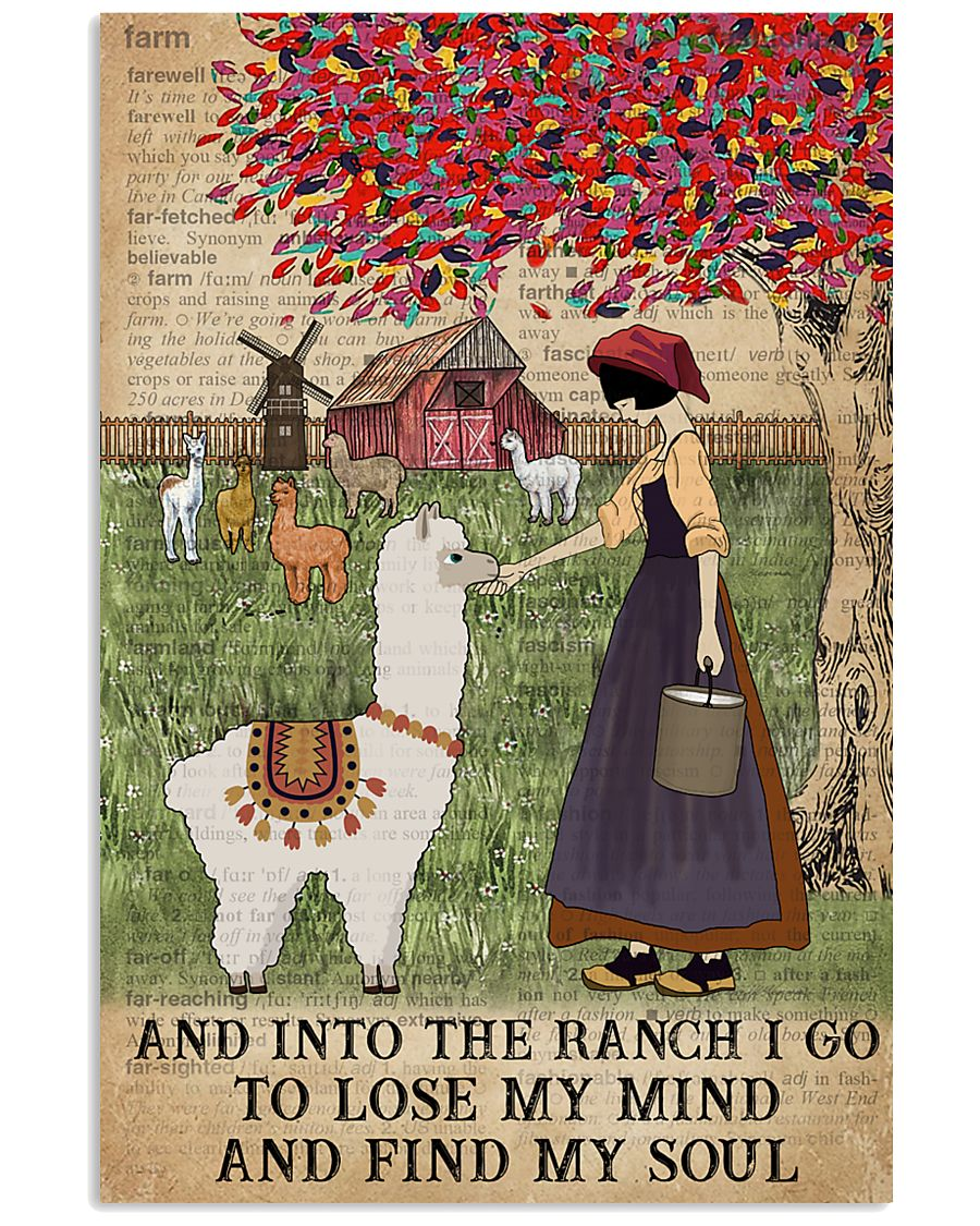 Dictionary Find My Soul Alpaca Farm Girl 11x17 Poster