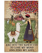 Dictionary Find My Soul Alpaca Farm Girl 11x17 Poster front